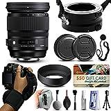Sigma 24–105mm f4DG OS HSM Artレンズfor Canon635101) with Exclusiveデュアルレンズホルダー/ Flipper +手首ストラップ+キャッ..