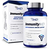 1MD ImmunityMD - Immune Health Probiotic | Potent, Clinically Studied Probiotic Strains with Prebiotic Fiber - Promote Lip, S