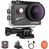【新型】LeadEdge アクションカメラ 4K高画質 2000万画素 手振れ補正 SONYセンサー 赤フィルター 外部マイク対応 4K/30FPS 1080P/60FPS WlFl搭載 40m強力防水 170度広角レンズ 2インチIPS液晶画面 リ