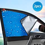 Car Front Side Window Car Sun Shade Double Thickness Auto Windshield Sunshades Universal Fit for Baby UV protection 2 Pack by