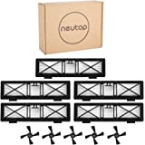 Neutop 5pcs Ultra Performance Filters+5pcs Side Brushes Kit Replacement for Neato Botvac Connected D3 D5 Botvac D Series D80