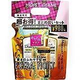 モイスト・ダイアン Moist Diane シャンプー&トリートメント 詰替えセット エクストラモイスト 400ml×2・10g×2