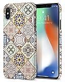 【Spigen】 iPhone X ケース, [ Qi 充電 対応 ] [ 超スリム 軽量 ] [ レンズ保護 ] [ ハードケース ] シン・フィット アラベスク アイフォン X 用 カバー (iPhone X, アラベスク)