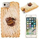 iPhone7 ケース カバー 食品サンプル 和栗モンブラン クリアケース ハードケース