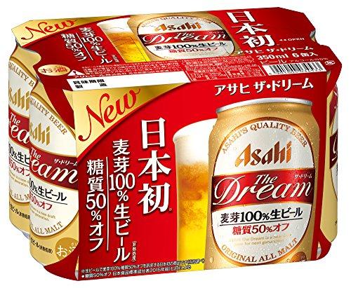 ザ・ドリーム 麦芽100%生ビール 糖質50%オフ 350ml×6本