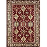 RUGGABLE Washable Indoor/Outdoor Stain Resistant Area Rug 2pc Set (Cover and Pad) Noor Ruby (152 x 213cm)