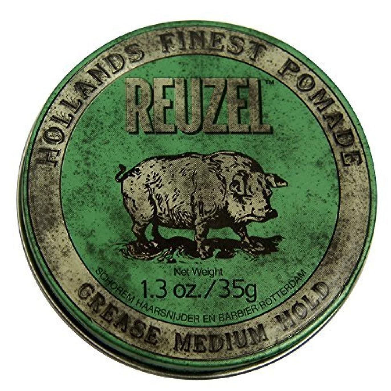 困惑物思いにふける項目by Reuzel Reuzel Green Grease Medium Hold Hair Styling Pomade Piglet 1.3oz (35g) Wax/Gel [並行輸入品]