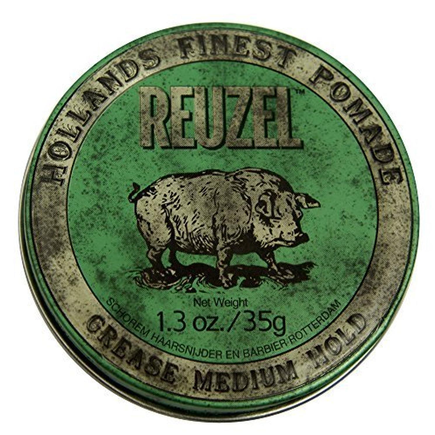ミリメートル用心節約するby Reuzel Reuzel Green Grease Medium Hold Hair Styling Pomade Piglet 1.3oz (35g) Wax/Gel [並行輸入品]