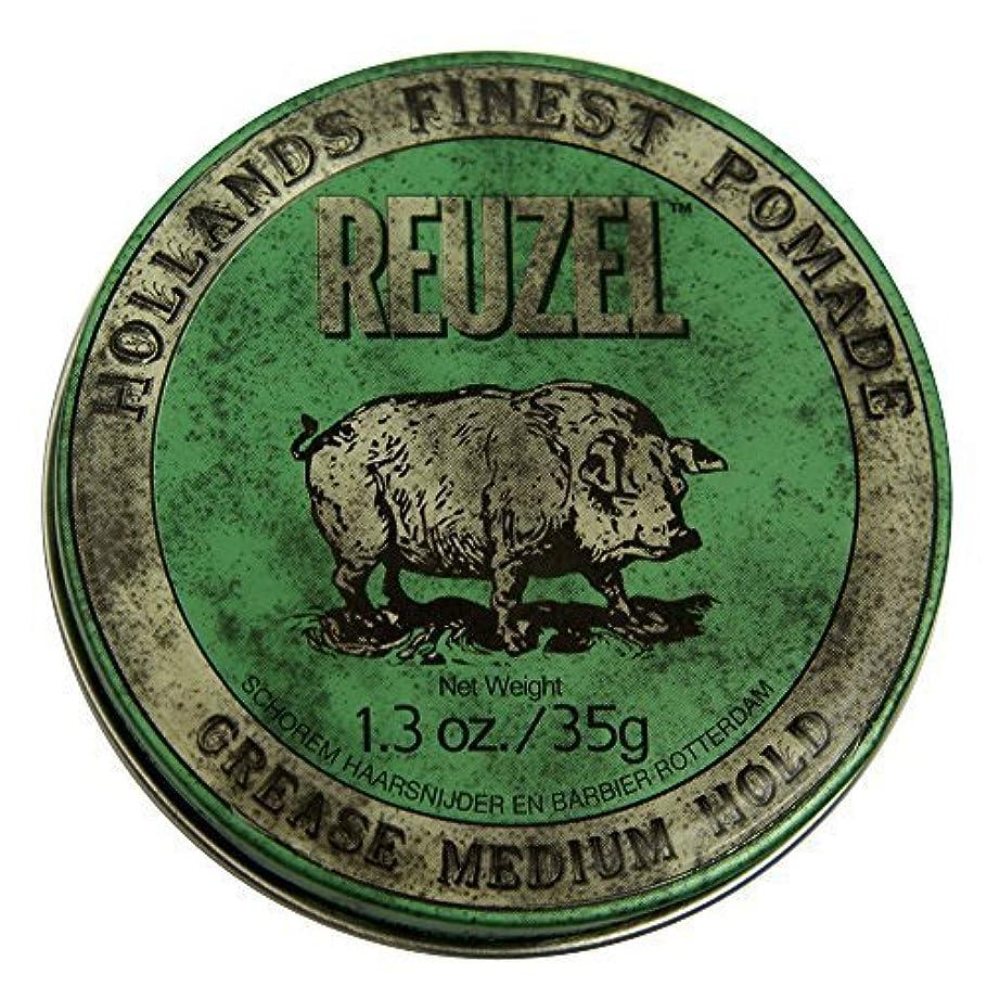 幸運な便益かるby Reuzel Reuzel Green Grease Medium Hold Hair Styling Pomade Piglet 1.3oz (35g) Wax/Gel [並行輸入品]