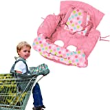 Playette Shopping Trolley and High Chair Cover Pink Butterfly, Multi