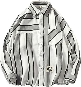 Heaven Days(ヘブンデイズ) シャツ 長袖 Yシャツ 長袖シャツ マルチストライプ 胸ポケット ストレート スタンダードカラー メンズ 1803M0481