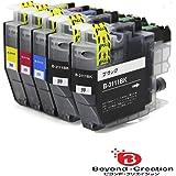ブラザー インクカートリッジ LC3111 4pk +BK 黒 顔料 互換 【Brother LC3111 BK2/C/M/Y】 ICチップ残量表示検知機能付き 汎用 (LC3111-4PK) 対応機種 DCP-J982N-B/W DCP-J978N-B/W DCP-J973N DCP-J972N DCP-J582N DCP-J577N DCP-J572N MFC-J903N MFC-J898N MFC-J893N MFC-J998DN/DWN MFC-J738DN/DWN