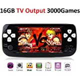 DigitCont Plug & Play Classic Mini Console 4.3 Inch Built-in with 3000+ Classic Retro Games, Portable Game Console Bring Back