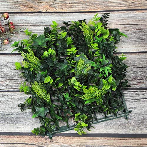 ULAND 25x25cm フェイクグリーン 壁掛け アイビー 人工観葉植物 パネル ホーム オフィス 結婚式 デパート ホテル クリスマス 新年 飾り 壁掛植物装飾