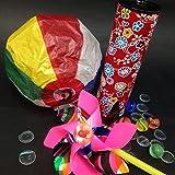 【和玩具】 懐かし和玩具5種セット (紙風船・風車・万華鏡・ビー玉・おはじき)