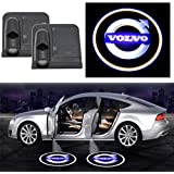 2Pcs For Volvo Wireless Car Door Logo Light LED HD Welcome Courtesy Ghost Shadow Projector Lamp Fit for Volvo Cars