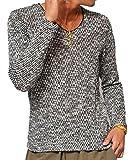 ジョーカーセレクト(JOKER Select) ニット メンズ セーター Vネック スラブ ニットソー Tシャツ 長袖 L ブラック(09)