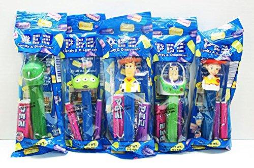 RoomClip商品情報 - ◎ PEZ ペッツ Toy Story 5個セット 【 ウディー バズ・ライトイヤー ジェシー レックス リトル・グリーン・メン 】 Candy Dispenser ディズニー Disney