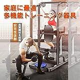ぶら下がり健康器 トレーニング器具 ぶらさがり  懸垂 器具 腹筋 マシン 筋トレーニング 懸垂マシーン ダンベル用 フラットベンチ付き