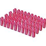 KISEER Plastic Baby Hanger Clips, 40 Pcs Slim-line Finger Clips Set Clothes Hanger Velvet Hanger (Pink)