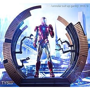 【R・DOLL】 1/6 フィギュア ドール コスプレ 素体 用 環状 【 スタンド 】 アイアンマン 情景 道具 置物 アクセサリー ホビー 飾り MK6