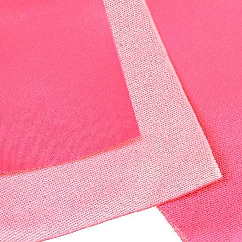 (キョウエツ) KYOETSU 日本製 半幅帯 袴下帯 浴衣帯 リバーシブル 無地 (濃ピンク×白)