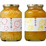 ゆず茶 1kg + 950g 韓国 はちみつ ゆず茶 りんご茶 詰め合わせ セット ゆず茶(1㎏)りんご茶(950g) (ゆず茶 1本 りんご茶 1本)