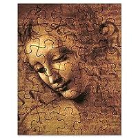 CafePress–Leonardo da Vinci La Scapigliata–ジグソーパズル、30個。