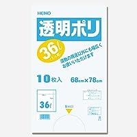 シモジマ ヘイコー 漬物袋 透明ポリ 36L 2斗用 10枚入 006677710