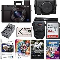 Sony DSC - rx100m3/B rx100III - ShotデジタルカメラW/プレミアムジャケットケース& 64GB SDカードバンドル