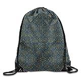 ナップサック 巾着袋 ハイビスカス柄 シール袋 収納 大人気 巾着バックパック 通学