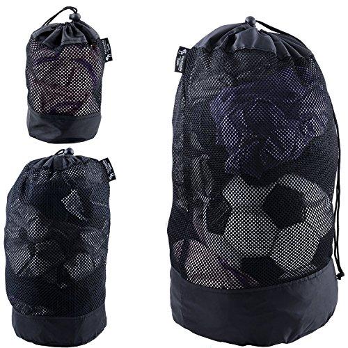 北欧スウェーデン発「The Friendly Swede」3個入り ポリエステル メッシュバッグ 3サイズ スポーツ 旅行 巾着袋 (ブラック)