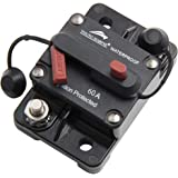 Young Marine Circuit Breaker for Boat Trolling with Manual ResetWater Proof12V- 48V DC (Surface Mount-60A)