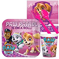 Pink Paw Patrol Girl Party Supplies - Snack Party Pack by BirthdayExpress