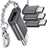 USB Type C Adapter,4-Pack Aluminum USB C to Micro USB Convert Connector with Keychain Charger Compatible Samsung Galaxy S9 S8