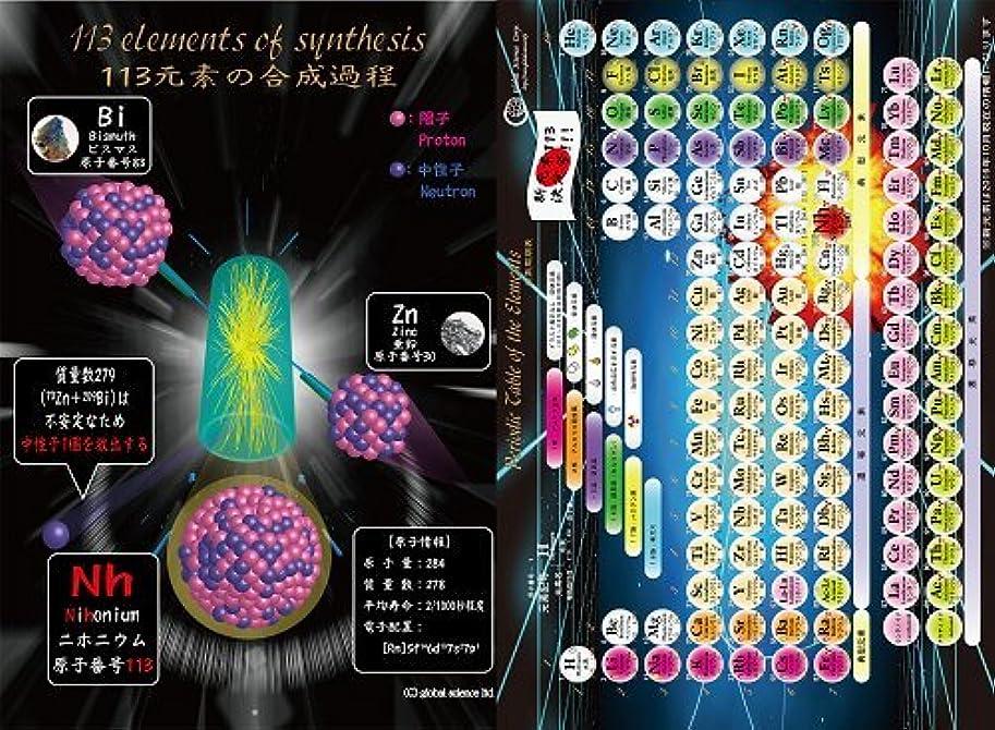 多年生の間で流行周期表クリアファイル「113元素(ニホニウム)決定号」~ダブルポケット A4サイズ~