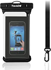 TOPACE 防水ケース IPX8防水規格・タッチパネルは高級クリアTPU素材採用・軽便・ ファッション 水中撮影 ケース iPhone XR/iPhone XS/Huawei P20 Lite/LG style L-03K / AQUOS R2 SH-03K 等6.0インチ以下全機種対応 (ブラック)