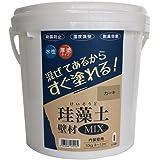 フジワラ化学 水系仕上塗材 珪藻土壁材MIX カーキ 10kg