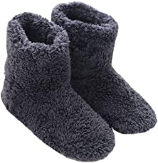 Mianshe 北欧 暖かい もこもこ ルームシューズ 男女兼用 足首まで暖かルームブーツ 冬用 防寒 ボアスリッパ