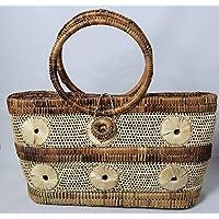 バナナリーフ 手編み トート かごバッグ