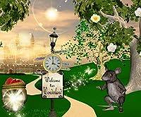 Fairy Landscapeパーティー背景マウス木城国スタイルCartoon写真Studioバックドロップ10x 8ft