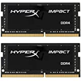 Kingston Technology HyperX Impact 32GB 2666MHz DDR4 CL15 260-Pin SODIMM Laptop Memory Black 32GB Kit (2 x 16GB)