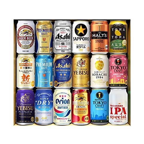 五大 国産プレミアムビール 飲み比べ ギフト 350ml 18本詰め合わせ 夢の競演 第6弾 プレゼント 贈り物 ビールセット サッポロ サントリー アサヒ キリン クラフトビール IPA 長S