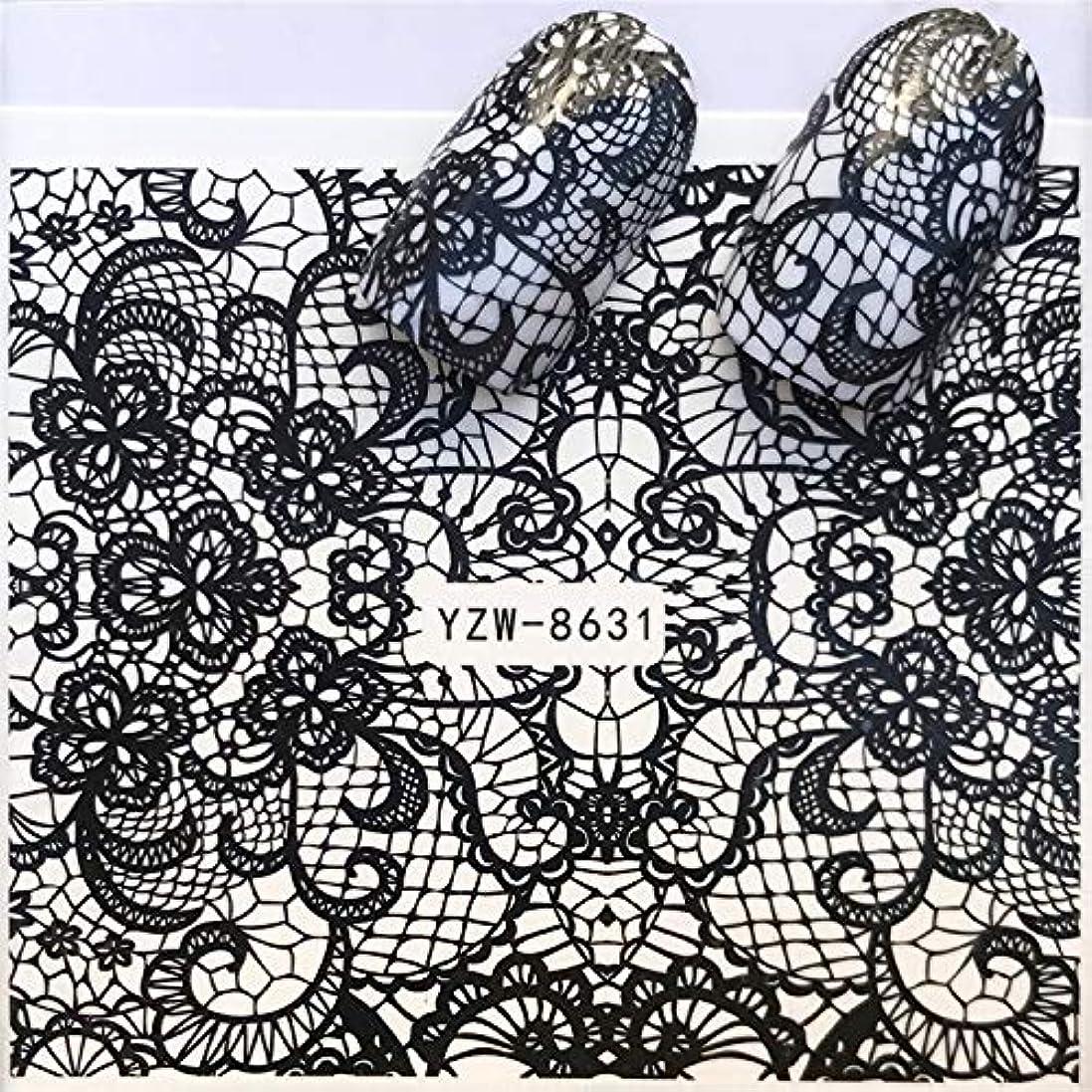 手足ビューティーケア 3個ネイルステッカーセットデカール水転写スライダーネイルアートデコレーション、色:YZWA036