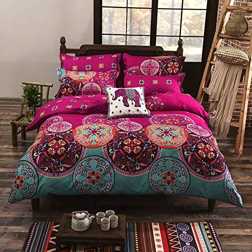 寝具セット寝具ボヘミアンオリエンタルMandalaキルト羽毛布団カバーセットツインQueen Kingサイズ3個セット Tiwn wuy