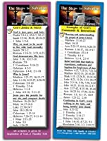 Bible Verse Cards by eThought - The Steps to Salvation - Pack of 25 Bookmark Size Cards - Jesus' Death Burial & Resurrection and the Instructions in Scriptures for Mankind to be Saved [並行輸入品]