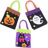 Halloween Candy Bags Halloween Goodies Bags Tote Pumpkin Skull Black Cat Bags Trick or Treat Bags Halloween Party Favors Bags