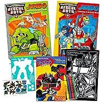Transformers Rescue BotsカラーリングブックSuperセット – - 2ジャンボBooks、8クレヨン、ステンシル、ミニポスター、Tattoos and More 。