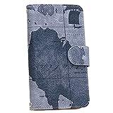 スマホゴ 手帳型 [XPERIA Z3 SO-01G] () PU手帳 世界地図02 手帳型 カード収納付き スマホケース