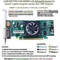 AMD Radeon HD 74501GB 1024MB /低プロファイルグラフィックスカード( Fullサイズブラケット) , Fits通常サイズコンピュータのみ